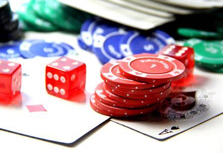 Poker set items Stock Photo - 16240223
