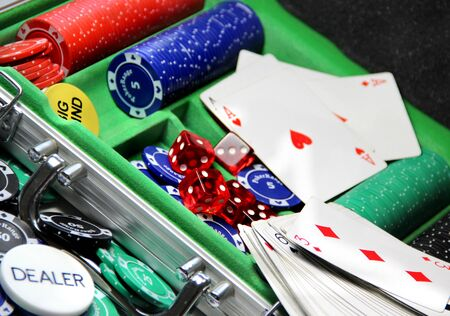 Poker set items photo