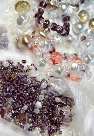 Pearls, crystals and beads for handwork  photo