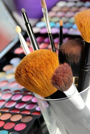 Small and big make-up brushes