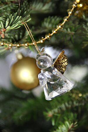Christmas crystal angel decoration Stock Photo - 17094795