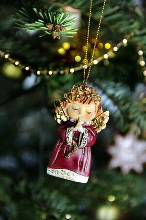 Christmas funny angel decoration Stock Photo - 17094765