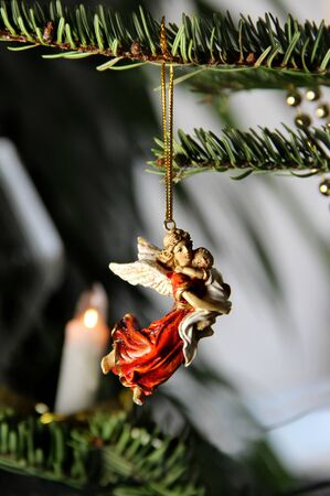 Jesus and Maria Christmas angel decoration Stock Photo - 17094771