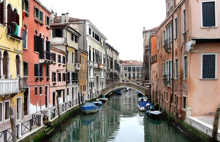 Beautiful romantic streets in Venice photo