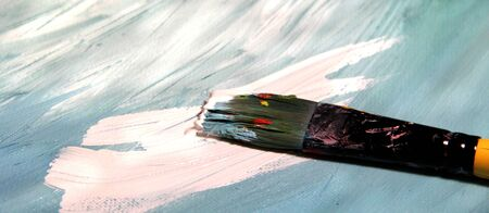 Mixing painting and paintbrushes  Stock Photo - 17452006