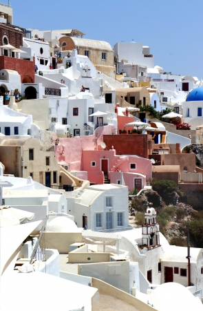 Amazing white houses of Santorini              photo