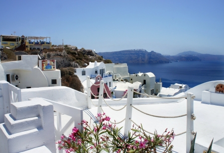 Beautiful view of Santorini, Greece  photo