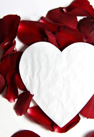 Beautiful Valentine composition of hearts and roses Stock Photo - 17698294