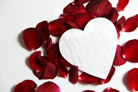 Beautiful Valentine composition of hearts and roses Stock Photo - 17698298