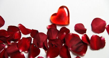 Beautiful Valentine composition of hearts and roses Stock Photo - 17698297