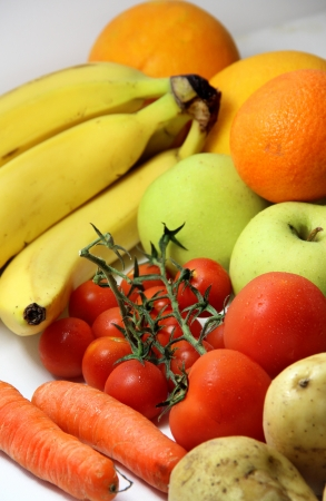 Big mix of fruits and vegetables photo