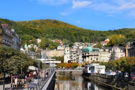 Schöne Aussicht von Karlovy Vary, Tschechien Lizenzfreie Bilder