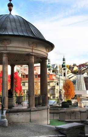 karlovy: Beautiful view of Karlovy Vary, Czech Republic Stock Photo