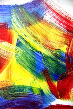 Vivid background of painted strokes