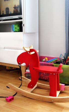 Beautiful child room with a lot of toys photo