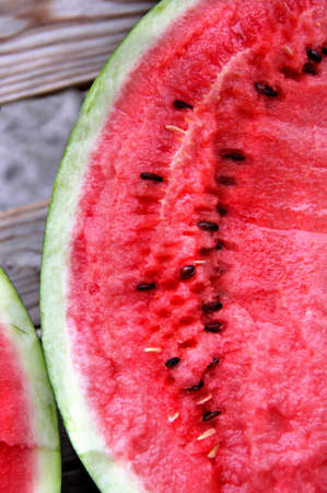 Ripe beautiful juicy watermelon  photo