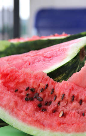 Ripe beautiful juicy watermelon  photo