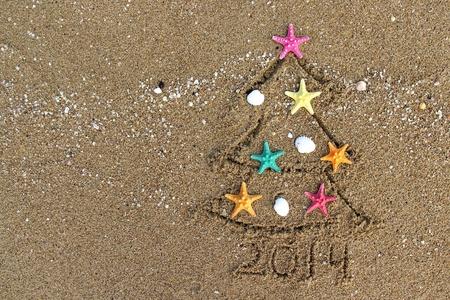 Weihnachten und Neujahr PF 2014 am Strand