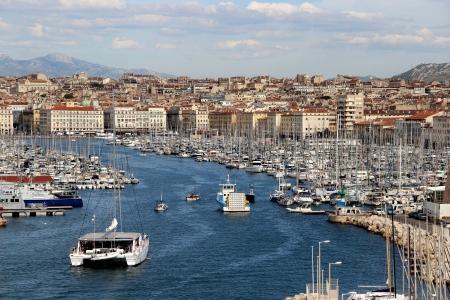 Schöne Aussicht auf Marseille, Frankreich, Provence
