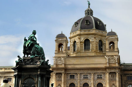 Monuments, sculptures and gardens in Vienna, Austria