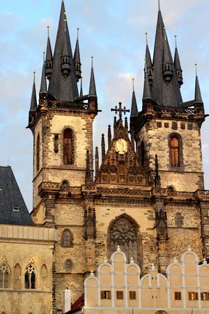 tyn: Church of Mother of God in front of Tyn, Czech Republic