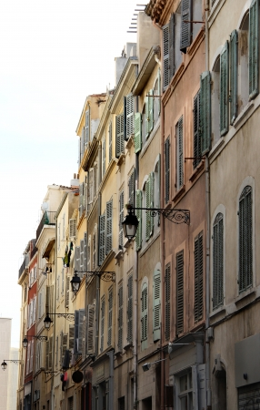 Beautiful view of street in Marseille, France, Provence  photo