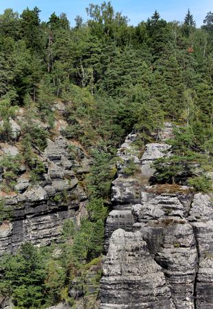 czech switzerland: Bella natura del parco nazionale ceca Svizzera, Repubblica Ceca