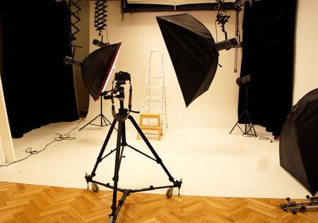 Big professional photo studio with expensive equipment
