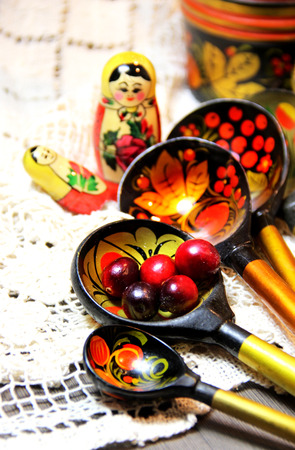 souvenirs: Mix of traditional Russian Souvenirs and antique objects