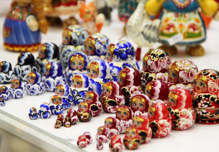 souvenirs: Mix of traditional Russian Souvenirs