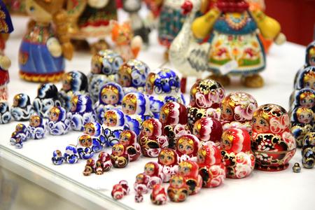 matriosca: Mix of traditional Russian Souvenirs