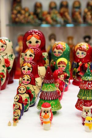 matreshka: Mix of traditional Russian Souvenirs