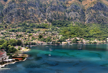 kotor: Beautiful view of Montenegro, architecture and nature in Kotor