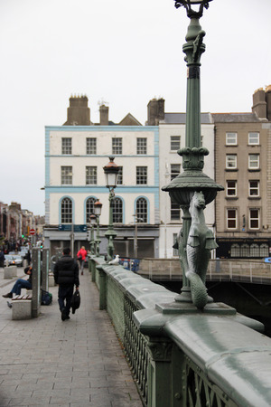 laconic: Traditional houses and bridges in Dublin, Ireland