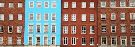 case colorate: case colorate tradizionali a Dublino, Irlanda Archivio Fotografico