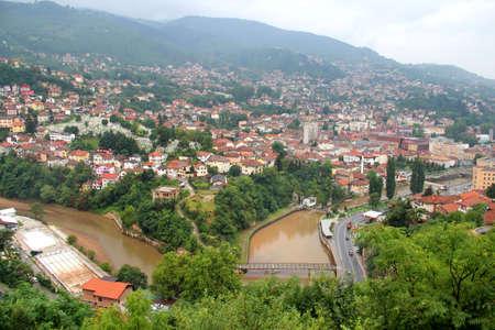 sarajevo: The city center of Sarajevo, Bosnia and Herzegovina