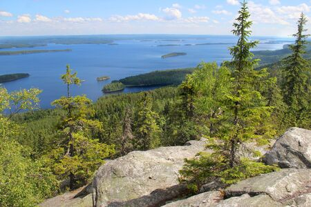 Beautiful nature of national park Koli, Finland