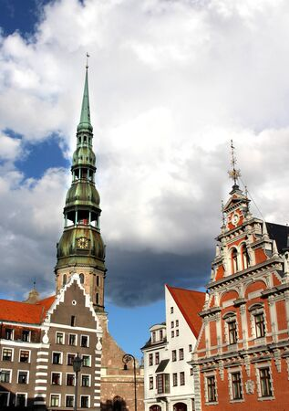 Beautiful view of Riga old town, Latvia