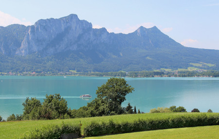 Amazing view of Mondsee in summer, Austria