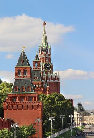 kreml: Beautiful view of the red square, Moscow, Russia Stock Photo