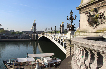 Pont Alexandre and Invalides, Paris, France Stock Photo