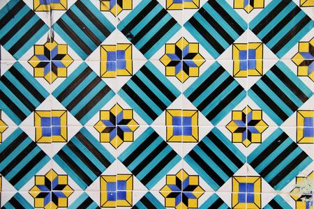Beautiful ceramic tiles of Lisbon, Portugal   Stock Photo