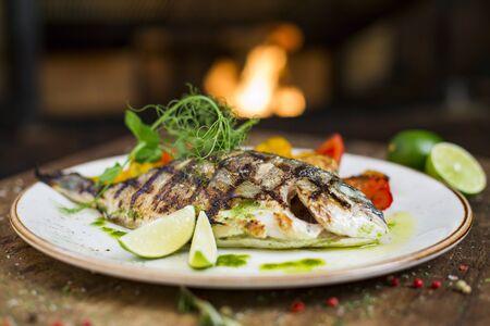Main course gourmet fish