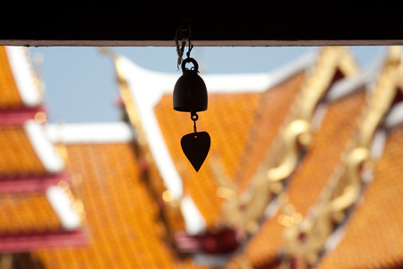 ceremic: Bell at Bangkok Temple Stock Photo