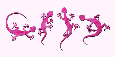 saurian: pink lizard