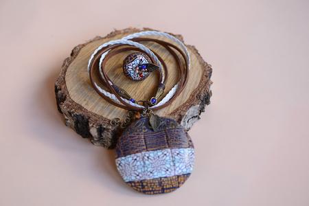 Handmade Jewelry on background Stock Photo