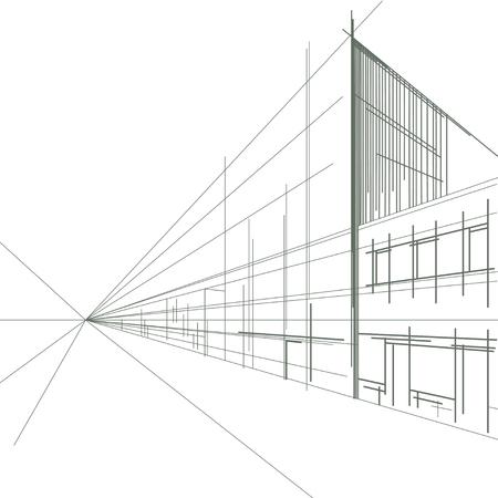 Linear street sketch