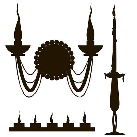 candelabrum: set of candles in sconces