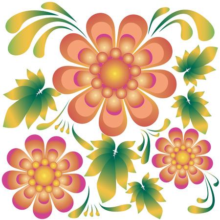 ethno: floral ethno ukrainian pattern