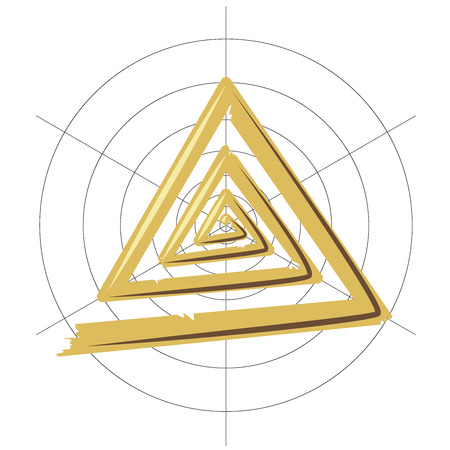 volute: Abstract illustration triangular gold volute